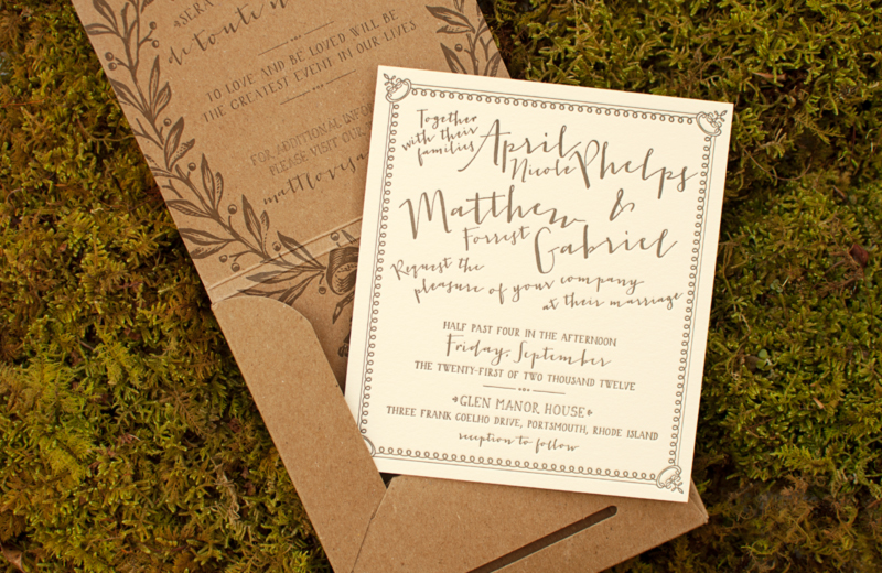 April Matts French Garden Party Wedding Invitations Coral – Garden Party Wedding Invitations