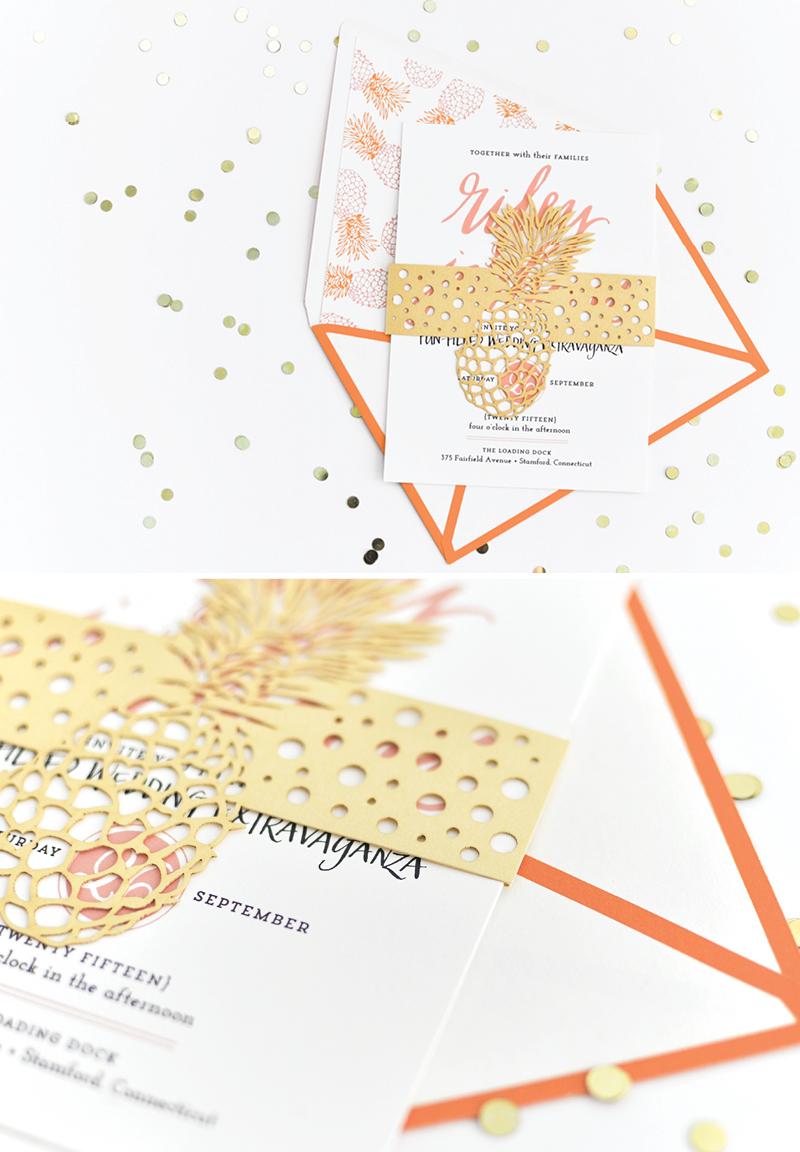 Pineapple Palm Beach Invitation | Coral Pheasant