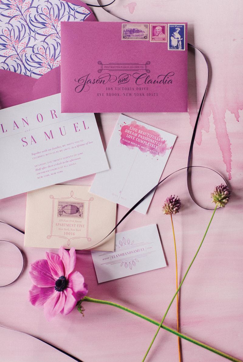 Radiant Orchid Invitation Suite | Coral Pheasant