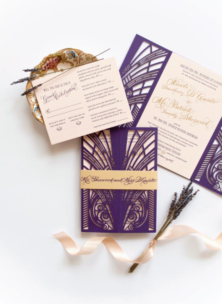 i - Gatsby Wedding Invitations