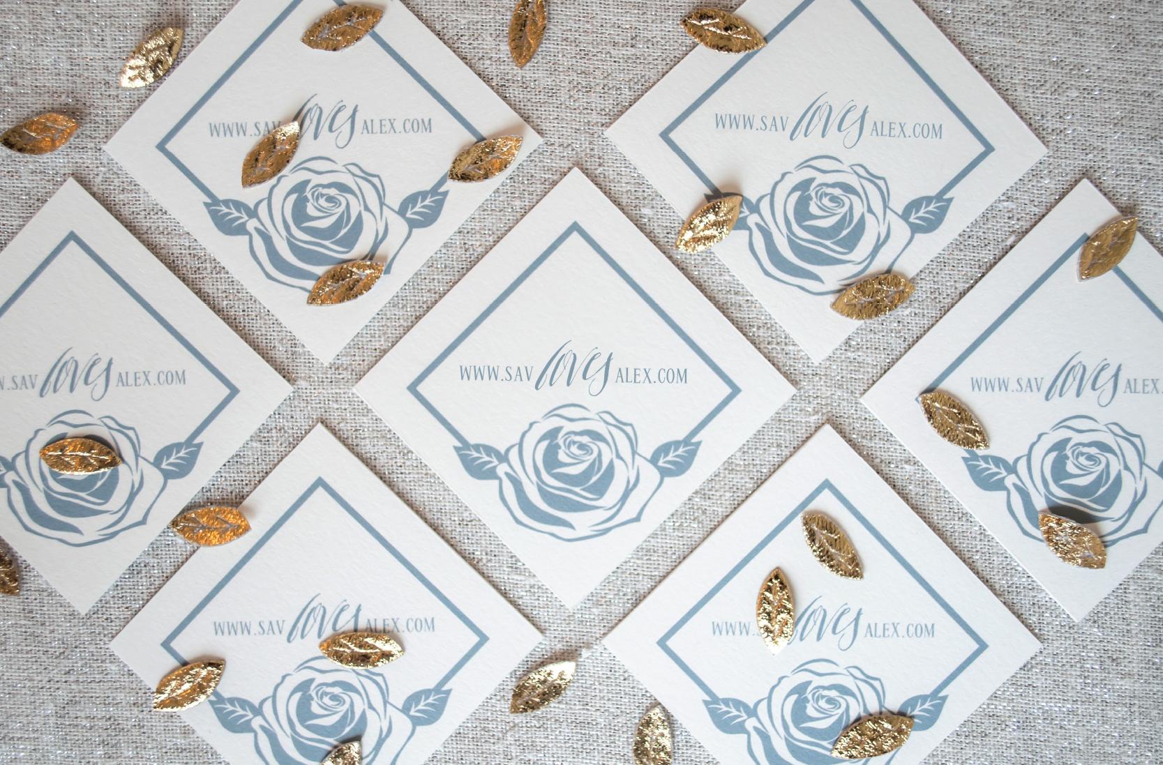 Luxury Glam Escort Cards   Coral Pheasant