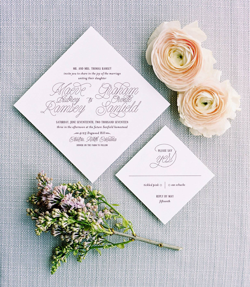 Love Preserved Invitation Suite | Coral Pheasant